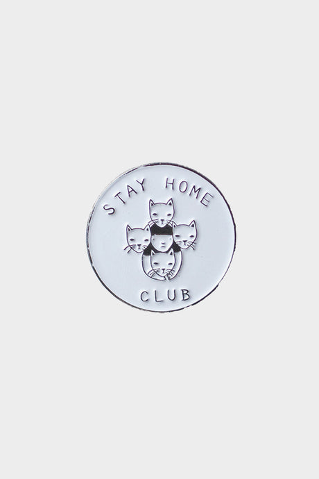 Stay Home Club Lapel Pin - Tigertree