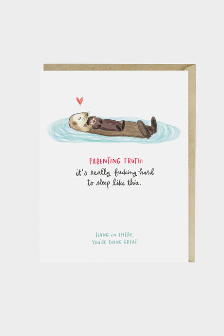 Baby Otter Parenting Card - Tigertree