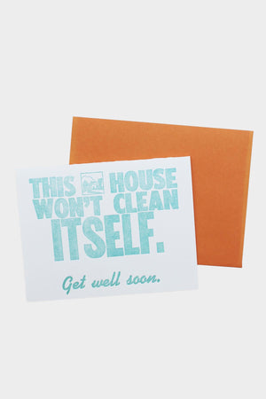 House Won't Clean Itself Card - Tigertree