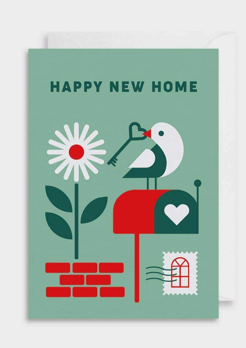 New Home Bird Greeting Card - Tigertree