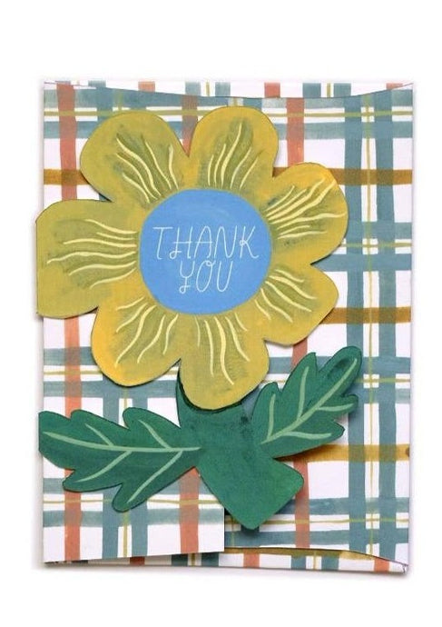 Thank You Flower Die Cut Card - Tigertree