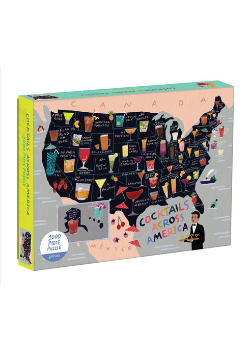 US Cocktail Map Puzzle - Tigertree