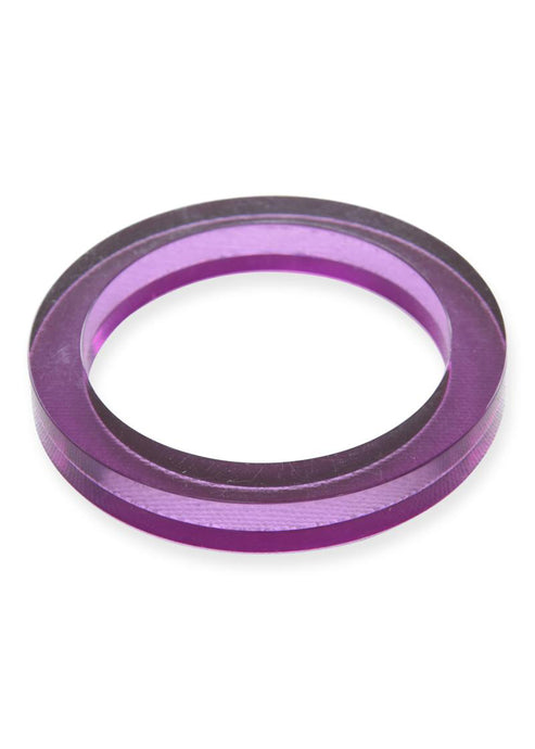 Eggplant Lucite Round Bangle - Tigertree