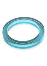 Load image into Gallery viewer, Turquoise Lucite Round Bangle - Tigertree