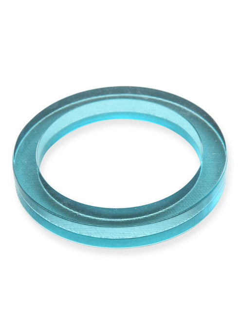 Turquoise Lucite Round Bangle - Tigertree
