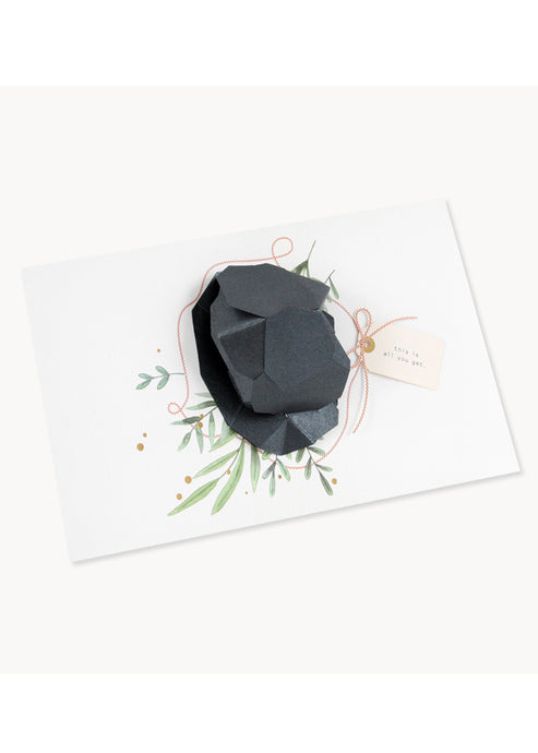 Lump of Coal Pop Up Card - Tigertree