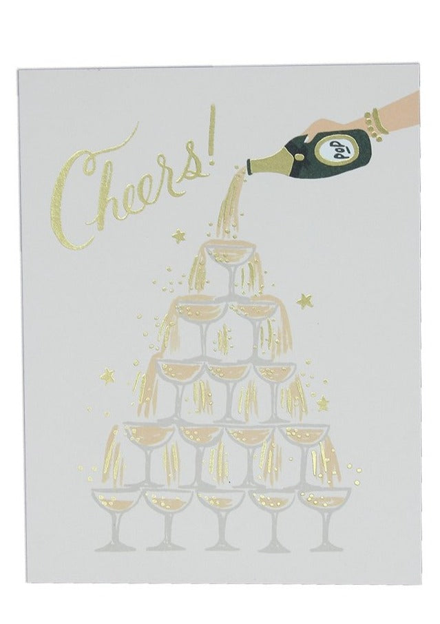 Champagne Tower Cheers Card - Tigertree