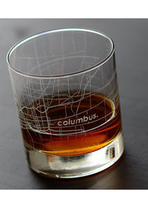 Columbus Rocks Glass