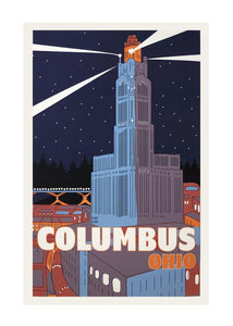 11x17 Columbus Ohio Print - Tigertree