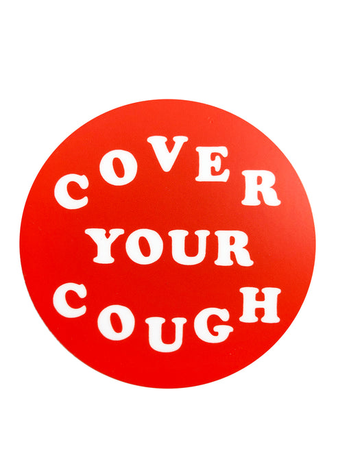Cover Your Cough Sticker - Tigertree
