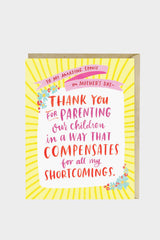 mother's day shortcomings card