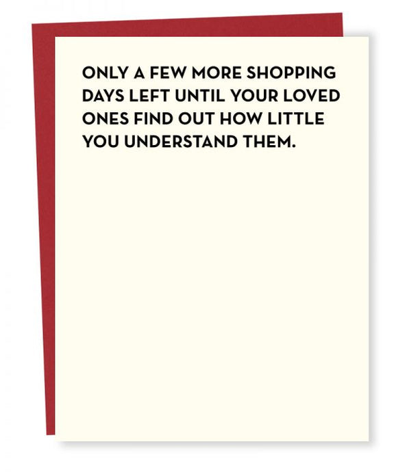 Shopping Days Card - Tigertree