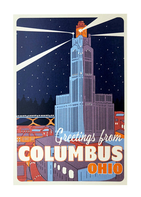 Greetings From Columbus Postcard - Tigertree