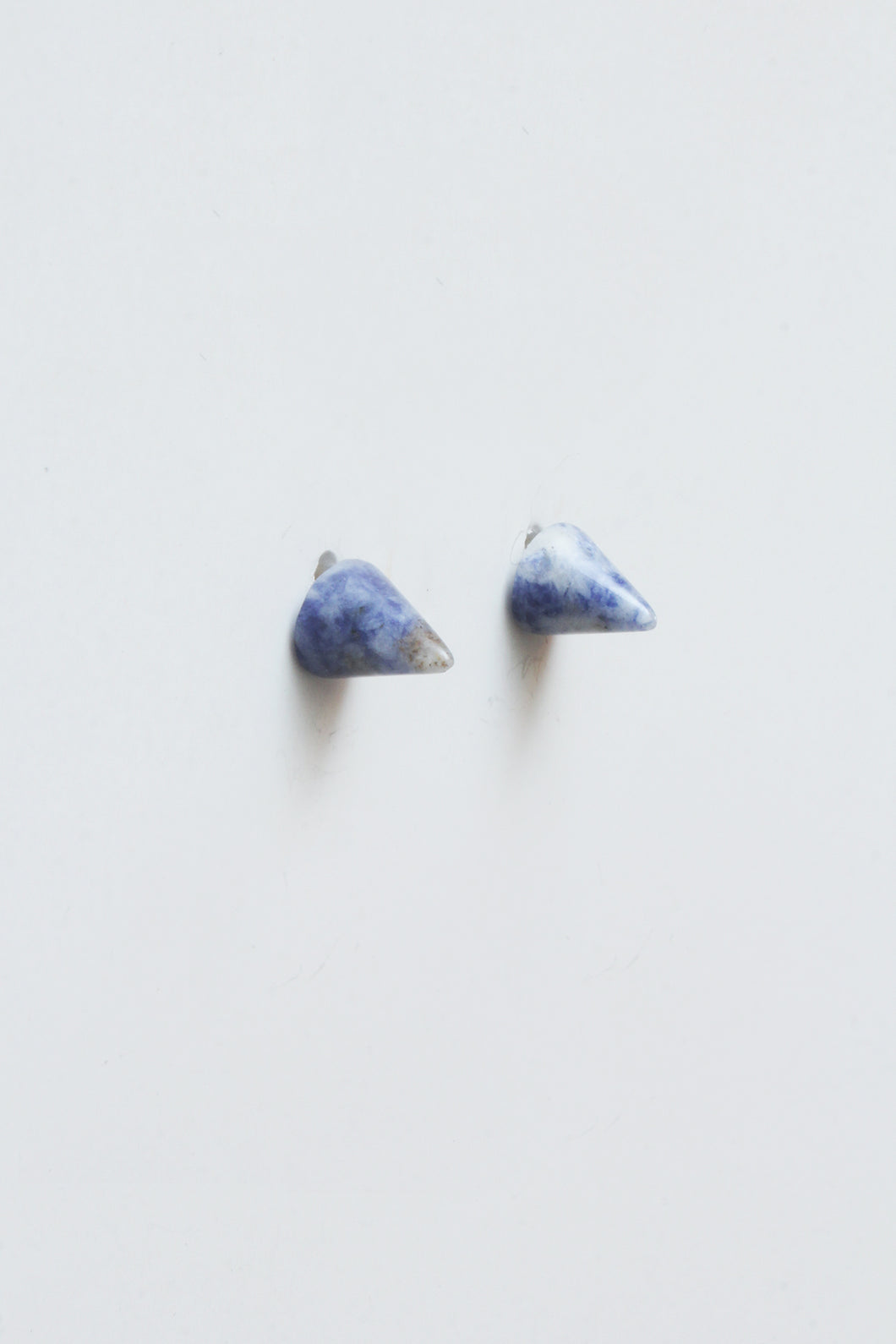 Conical Gemstone Post Earrings Blue - Tigertree