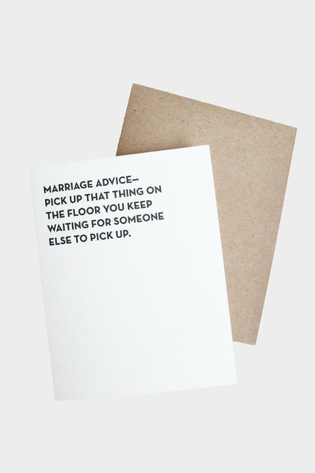 Marriage Advice Card - Tigertree