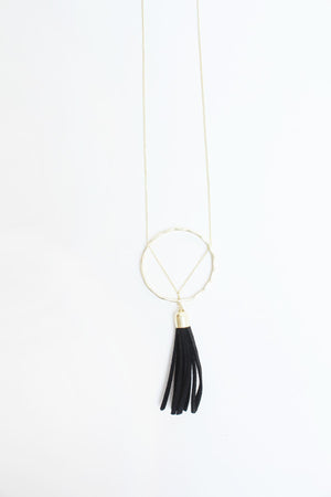 Ellaria Tassel Necklace Black