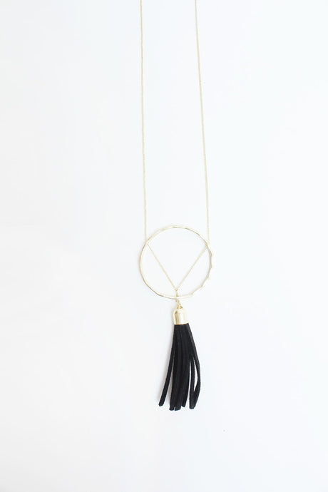 Ellaria Tassel Necklace Black - Tigertree
