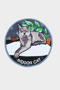 Indoor Cat Iron On Patch