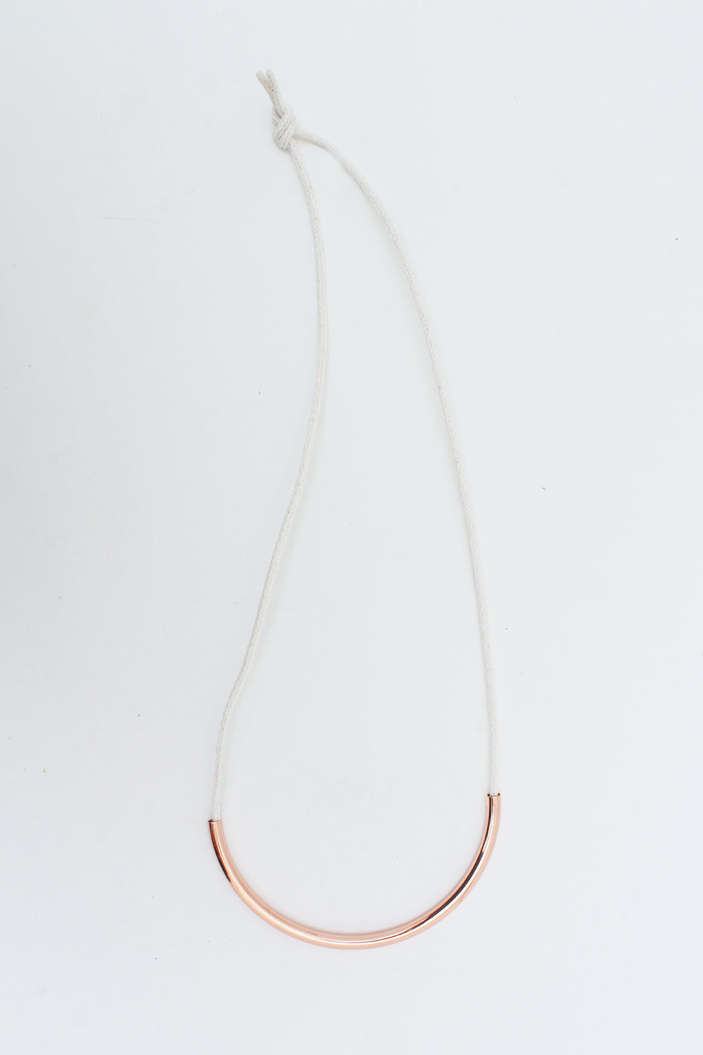 Copper Standard Necklace Off White