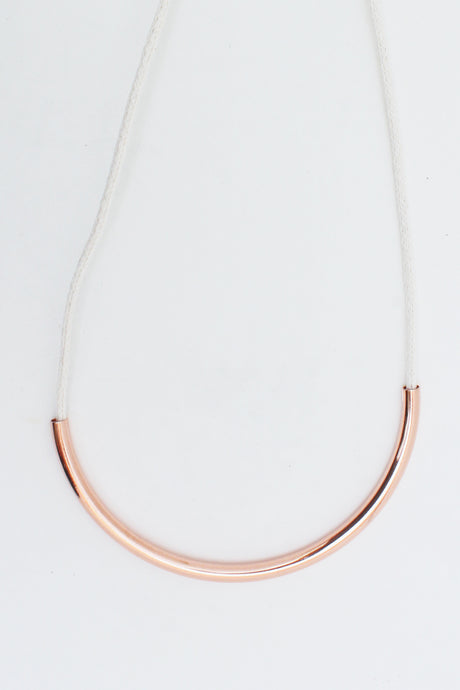 Copper Standard Necklace Off White - Tigertree