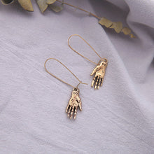 Load image into Gallery viewer, The Art of Palmistry Earrings - Tigertree