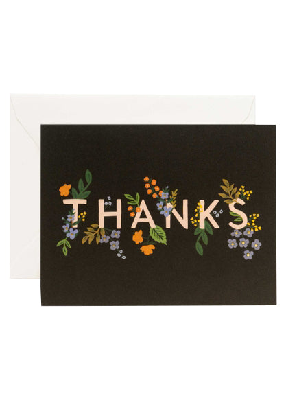 Posey Thank You Card - Tigertree