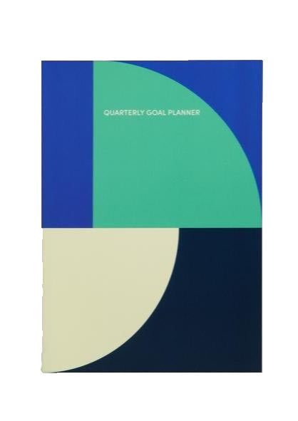 Blue Quarterly Goal Planner