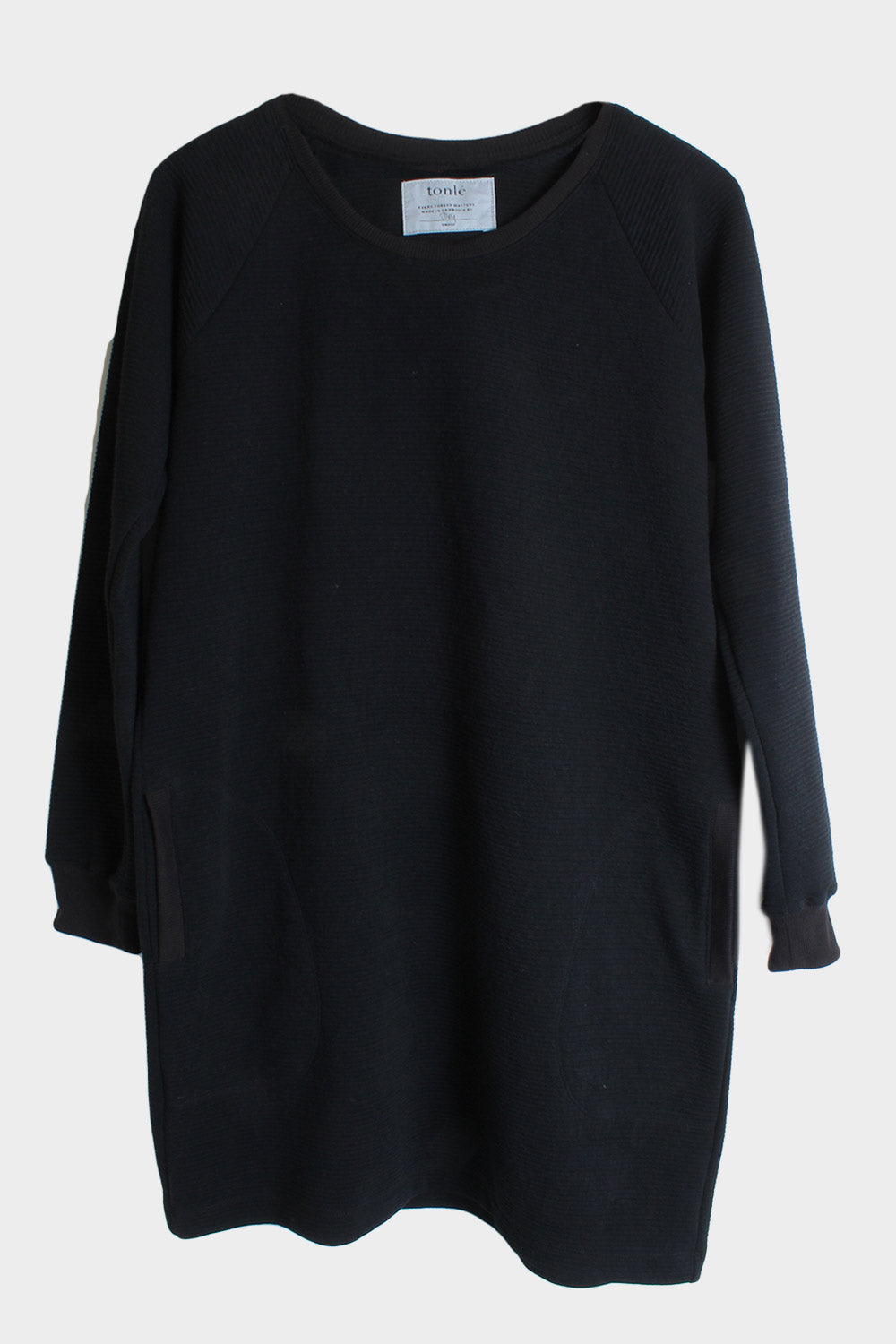 tonle zero waste sweatshirt dress
