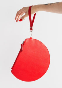 Red 3/4 Moon Clutch - Tigertree