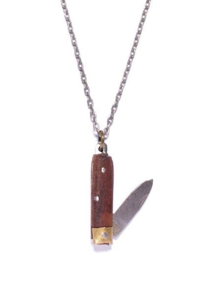 Wooden Knife Necklace Brown - Tigertree