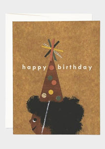 Afro Birthday Card - Tigertree