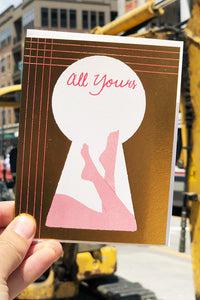 Keyhole All Yours Card - Tigertree