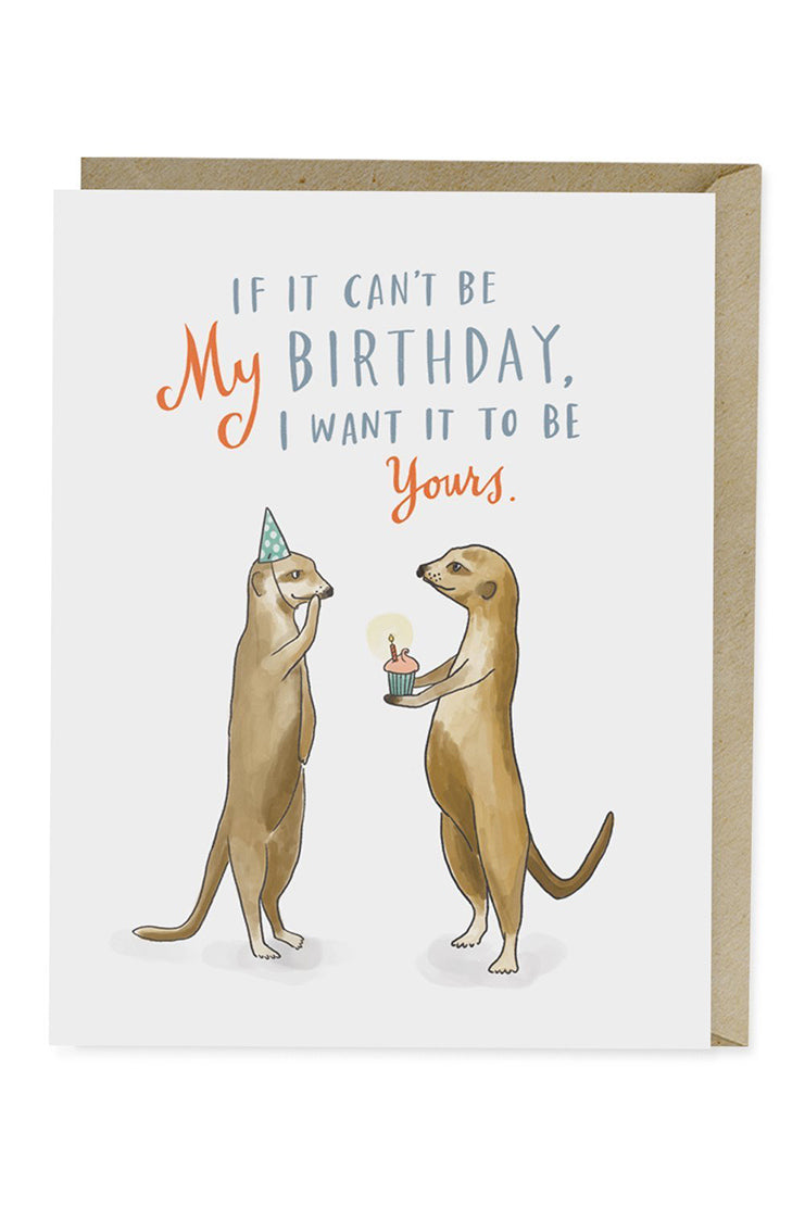 Emily McDowell otter birthday card