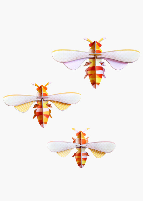 3D Set Of 3 Honey Bees Kit - Tigertree
