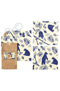 Beeswax Wrap Lunch Pack - Bees + Bears - Tigertree