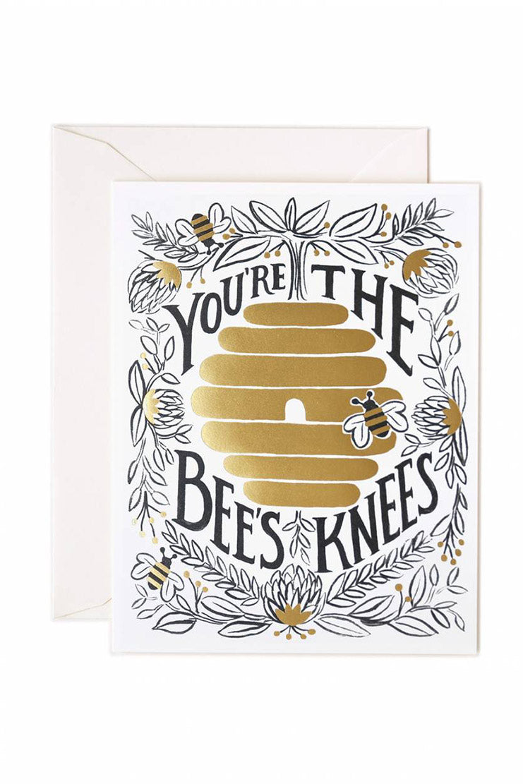 rifle paper co bee's knees card
