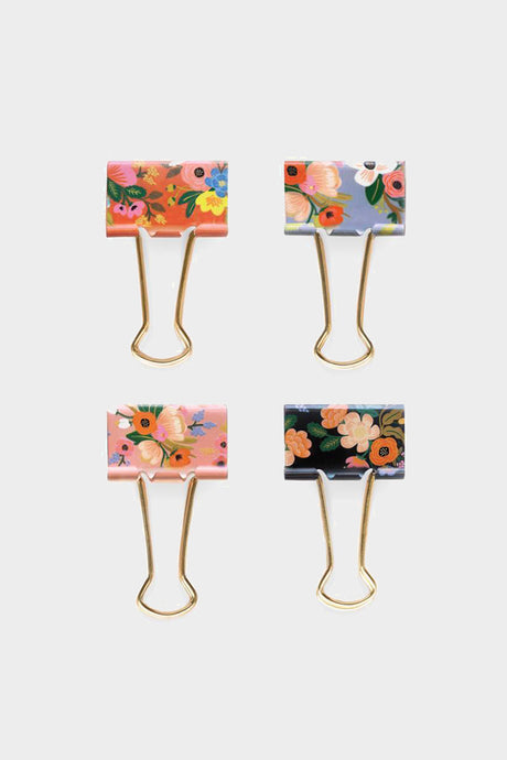 Lively Floral Binder Clips - Tigertree