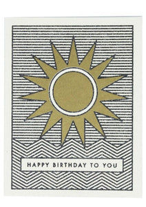 Sunshine Birthday Card - Tigertree