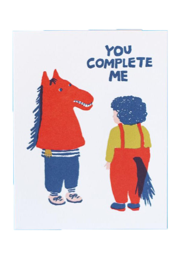 You Complete Me Card - Tigertree