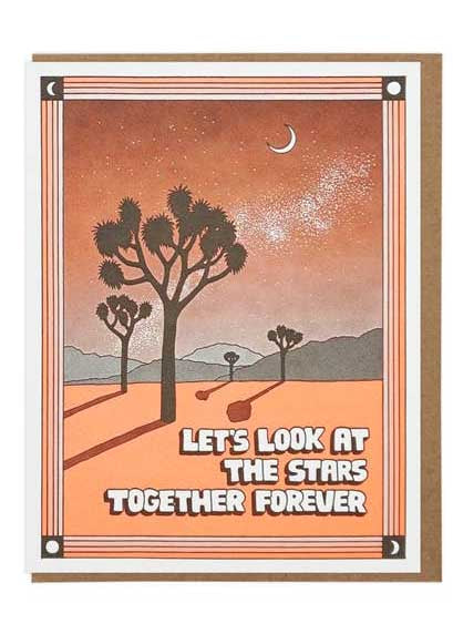 Let's Look At The Stars Forever Card - Tigertree