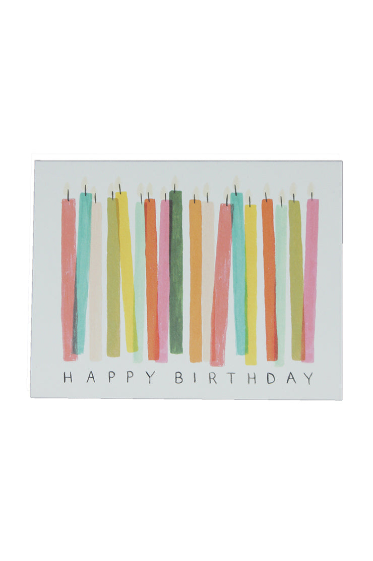 birthday candle greeting card