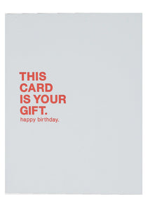 Card is Your Gift Card - Tigertree