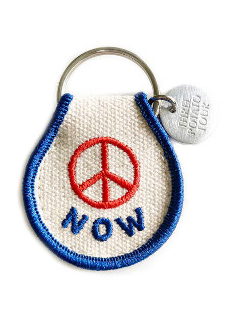 Peace Now Patch Keychain - Tigertree