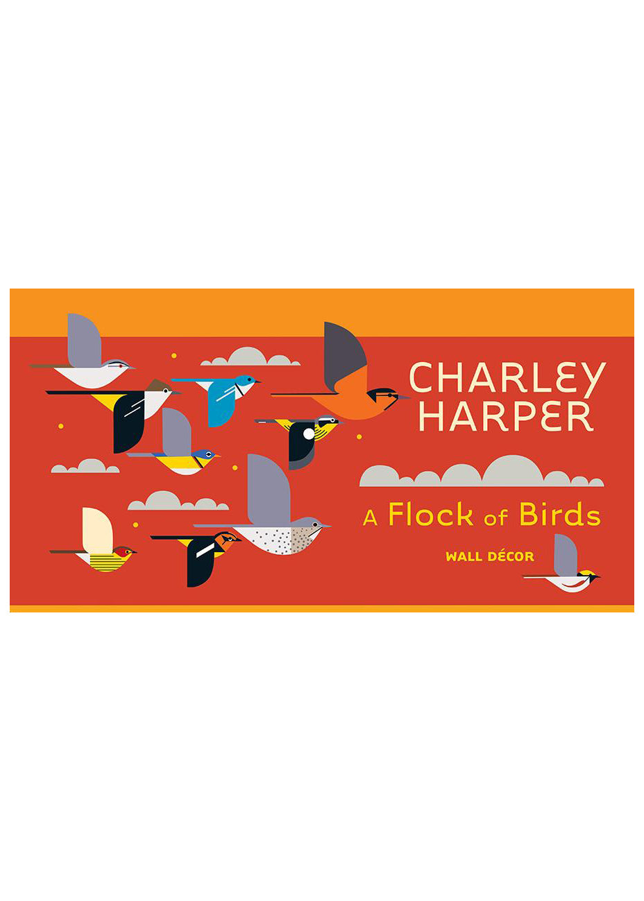 Charley Harper A Flock Of Birds Wall Decor - Tigertree