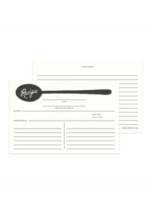 Charcoal Spoon Recipe Cards - Tigertree