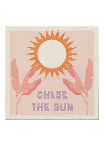 Chase The Sun Leaves Print - Tigertree
