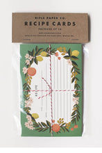 Load image into Gallery viewer, rifle paper co recipe cards in packaging