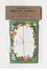 rifle paper co recipe cards in packaging