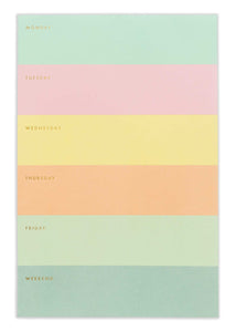 Color block Weekly Desk Pad - Tigertree