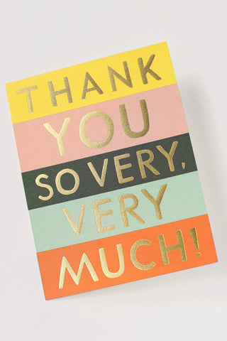 Color Block Thank You Card